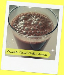 Chocolate Peanut Butter Banana Shakeo